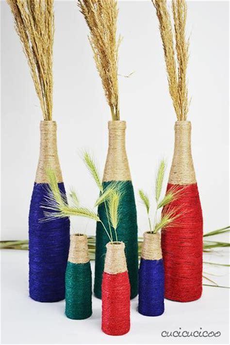 vasi bottiglie vasi da bottiglie di vino e spago colorato paperblog