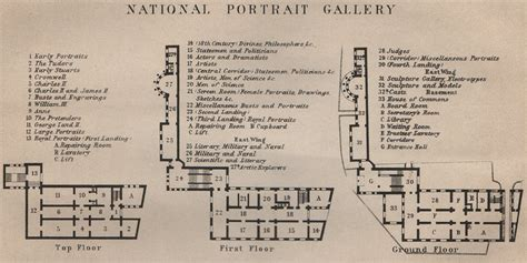 national gallery floor plan national portrait gallery floor plan london baedeker