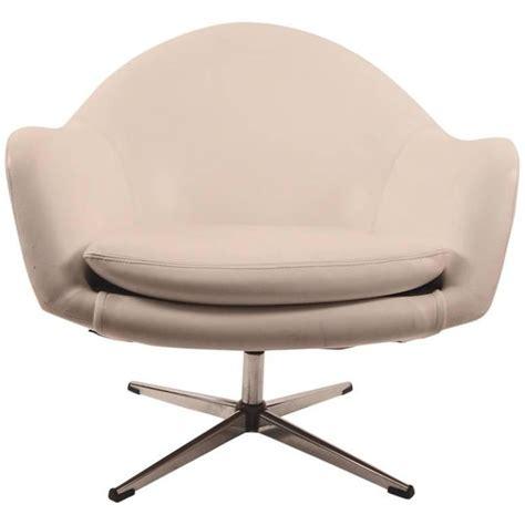swivel pod chair white vinyl swivel pod chair by overman for sale at 1stdibs