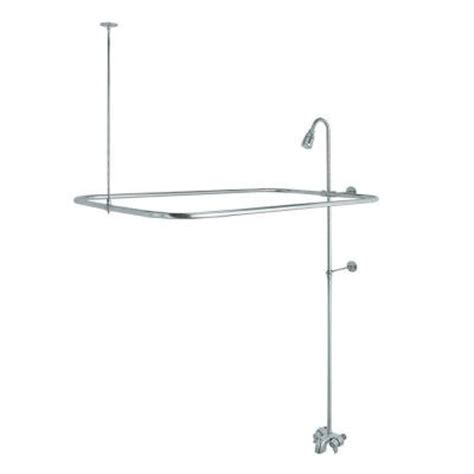 claw bathtub shower kit danco add a shower kit for clawfoot tub in chrome