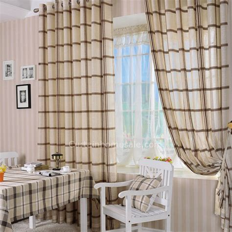 plaid curtains for living room plaid living room or bedroom sidelight panels curtains