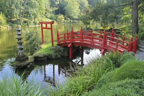 japanese garden bridge garden bridge japanese red 183 free photo on pixabay