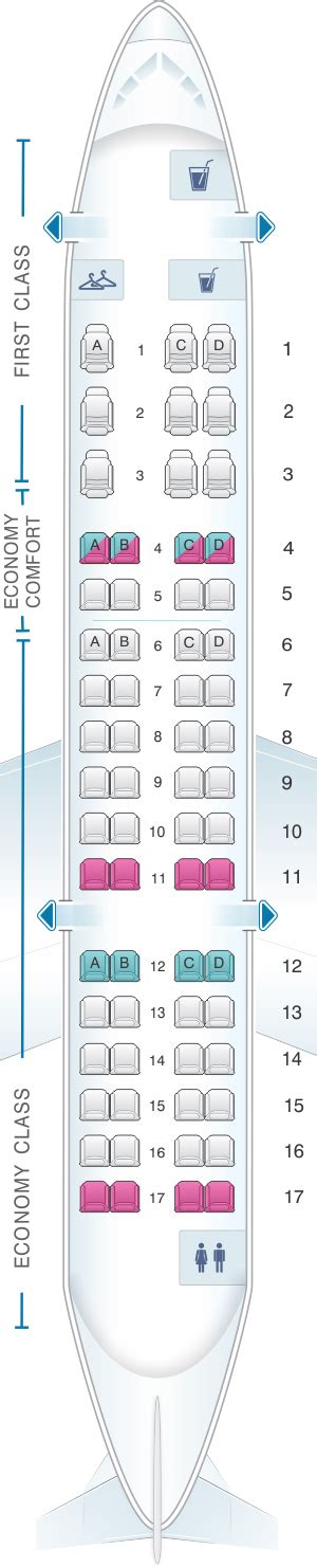canadair regional jet seating delta airlines crj seating chart
