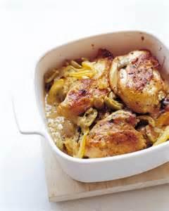 lemon and olive chicken recipe martha stewart - Lemon Chicken Mediterranean Style
