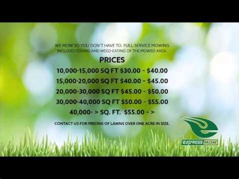 lawn service pricing