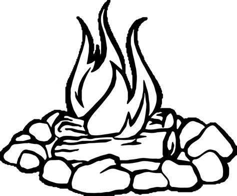 a coloring page fire and smores coloring pages