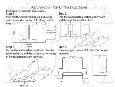 how to make pop up cards without template advanced pop up paper cutting