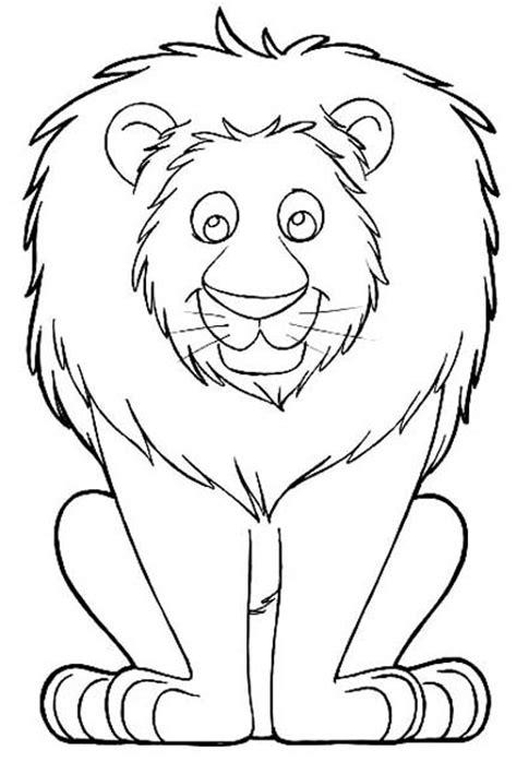 simple lion coloring page 8 best images of printable cartoons of lions lion