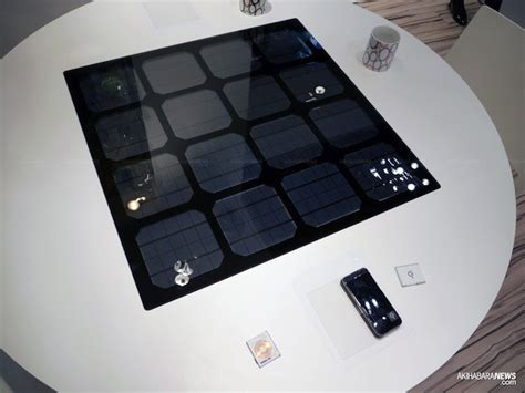 wireless charging table panasonic shows solar powered wireless charging table