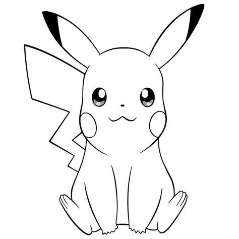 dibujos pikachu para dibujar imprimir colorear y encantador dibujos de pikachu para colorear e imprimir