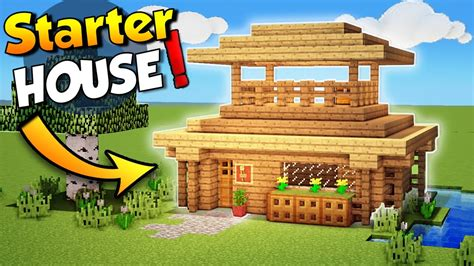 how to make minecraft houses minecraft easy starter house tutorial how to build a