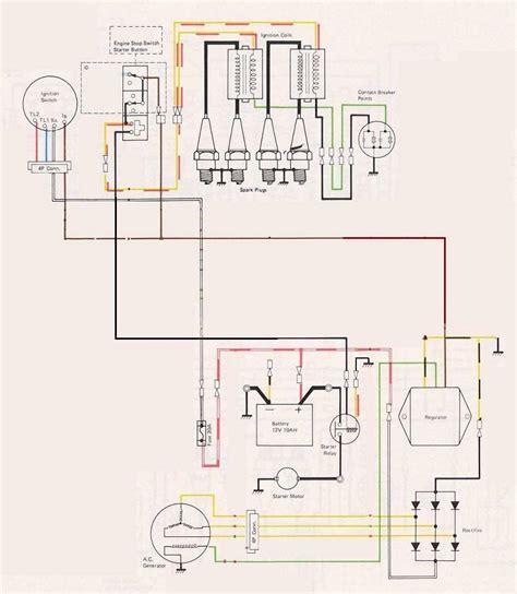 wiring diagram regulator rectifier honda cb450 k circuit