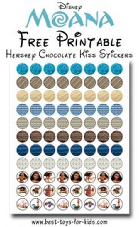 printable moana hershey kiss stickers  printablescom