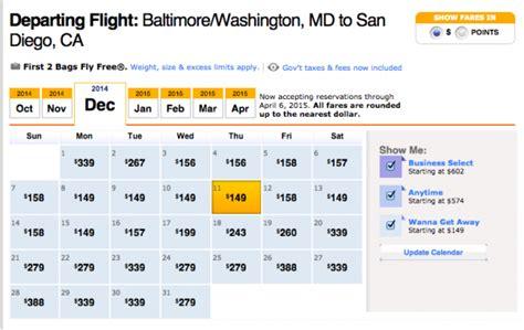 Low Cost Airfare Calendar Southwest Airlines Low Price Calendar Calendar Template 2016