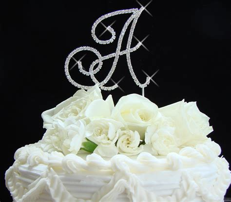 Monogram Wedding Cake Toppers by Liza Monogram Wedding Cake Topper Ipunya