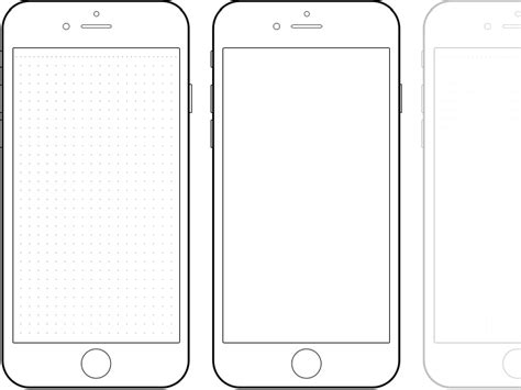 Iphone 6 Drawing Template Paternoster Pinterest Template Ux Design And Mockup Iphone Web Design Template