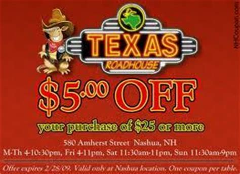 texas roadhouse printable coupons texas roadhouse coupons texas roadhouse coupons