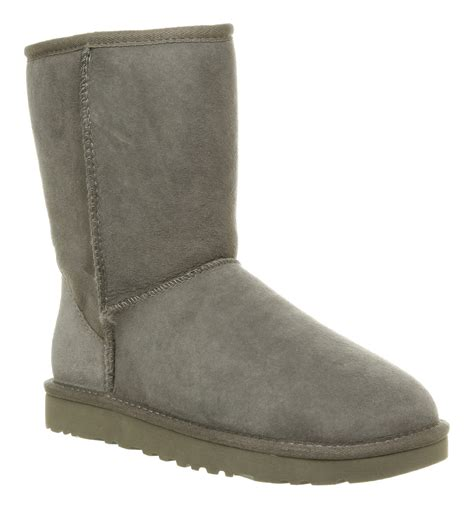 grey ugg boots for ugg classic boot grey in gray grey lyst
