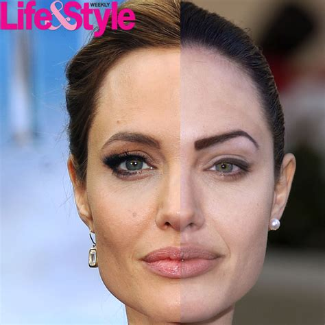 change mouth eyes hairstyle effect see angelina jolie s transformation through the years