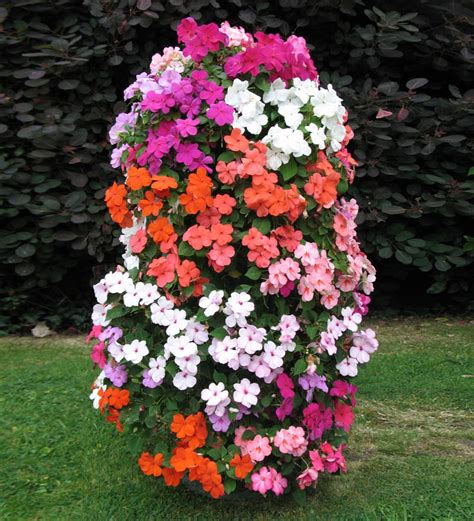 Flower Planters flower tower freestanding vertical planter the green