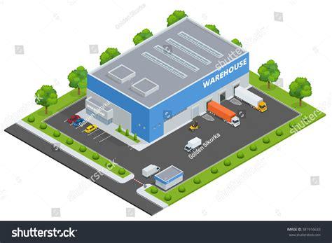 warehouse layout en espanol page web design template set flat stock vector 381916633