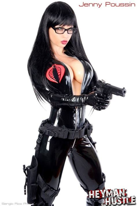 hot chick in gi joe jenny poussin comic con cosplay sexy cosplay pinterest