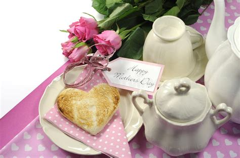 rose themed breakfast pink theme happy mothers day breakfast tray with copy