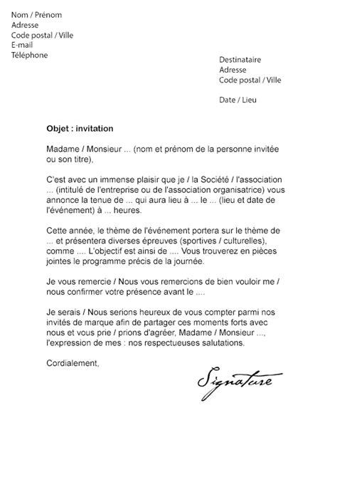 Exemple De Lettre D Invitation D Une Autorité Lettre D Invitation 201 V 233 Nement Mod 232 Le De Lettre