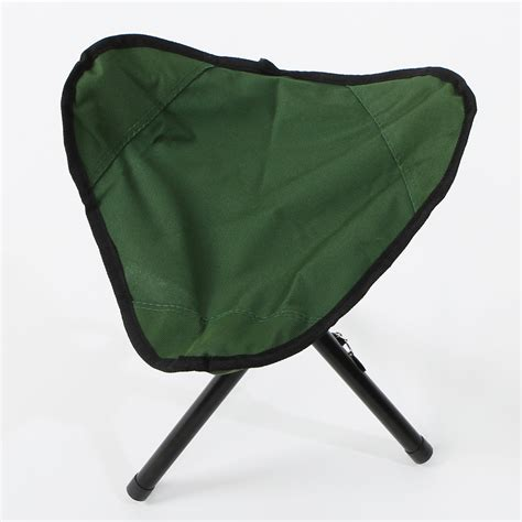 3 legged folding stool with back outdoor hiking fishing lawn portable pocket folding chair
