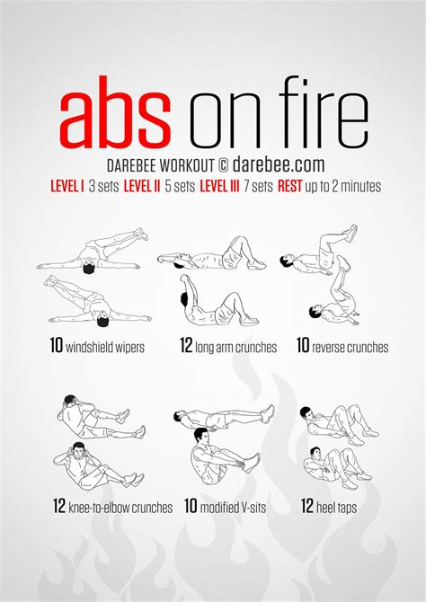 20 stomach burning ab workouts from neilarey fitness challenges and infographics