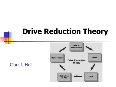 drive reduction theory exle drive reduction theory learning theory