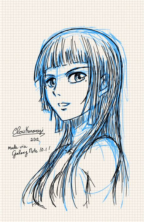 Note 5 Sketches by Galaxy Note 10 1 Sketch Test By Clowkusanagi On Deviantart