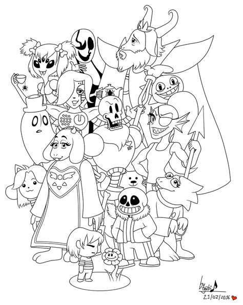 Undertale Coloring Pictures To Pin On Pinsdaddy