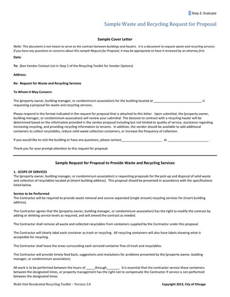 Waste Management Cover Letter vendor cover letter in word and pdf formats