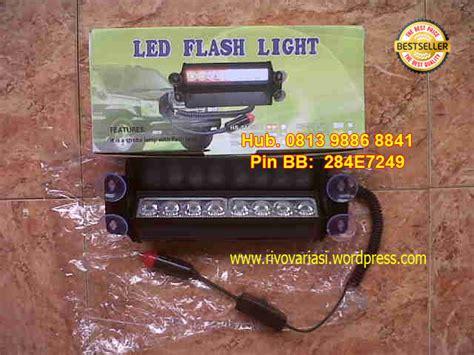 lu strobo tempel kaca led flash light 8 led rivo