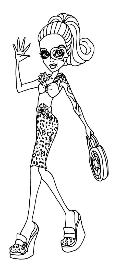 monster high operetta coloring pages 229 best images about monster high coloring page on