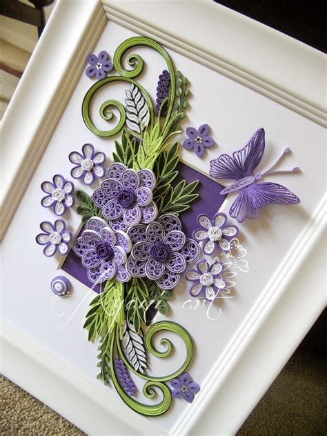 Butterfly Paper Place Card Lavender Isi 12 Pcs ayani purple and green quilling