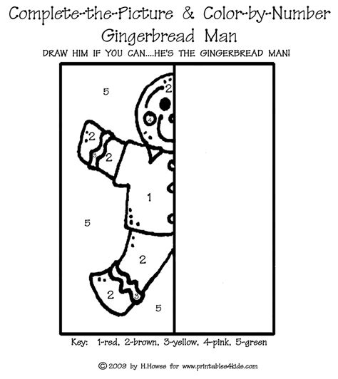 gingerbread man printable activities for preschool complete the picture gingerbread man printables for kids