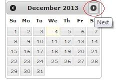 jquery datepicker not showing properly on a modal window left and right icon of date picker not showing in my