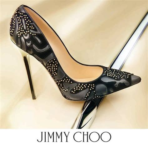 Looks Gorgeous As Usual In Jimmy Choo Bias Leather Heels by Lust Worthy Shoe Jimmy Choo Abel Studded Flocked