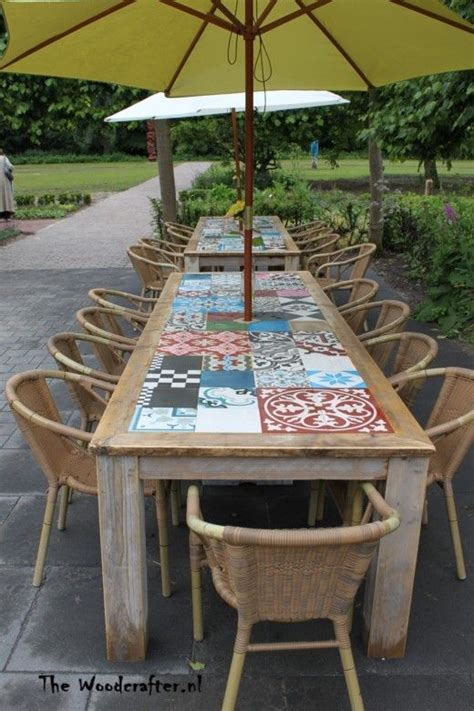 tafelblad maken voor buiten 25 beste idee 235 n over buiten tafels op pinterest