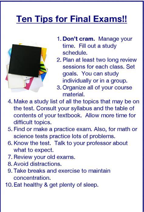 english honori garcia final exams tips