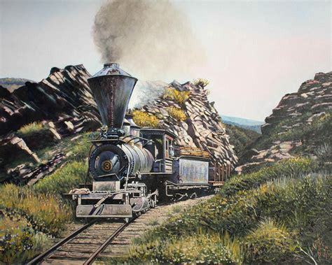 painting trains trains paintings