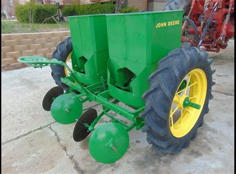 Pumpkin Seed Planter For Sale by Deere 212 Potato Planter 2 Row Late 50s Restored In