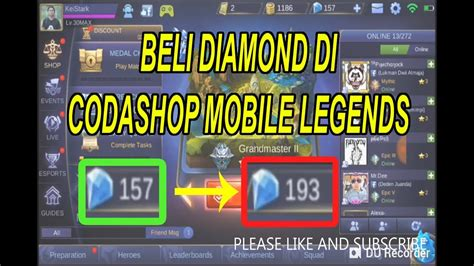 mobile legend codashop new membeli diamonds di codashop mobile legends 2018