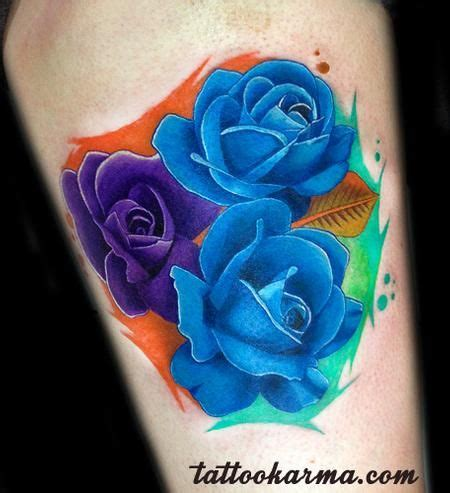 purple and blue rose tattoo purple cover up www pixshark images