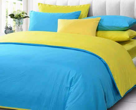 Harga Sprei Polos Merk detail product seprei dan bedcover polos biru mix kuning