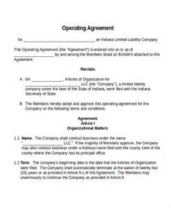 free operating agreement template 17 agreement templates free sle exle format
