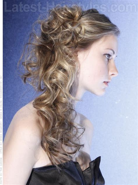 side curls hairstyles how to prom hair curly side prom homecoming hair pinterest