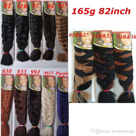 how many packs of xpression hair to get xpression synthetic braiding hair 82inch 165g single color